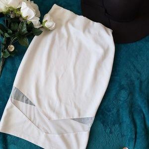 **Gently Used** Go Jane White skirt